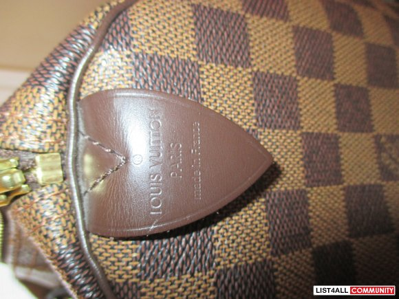 Authentic Louis Vuitton Speedy Bag 30 Damier Ebene