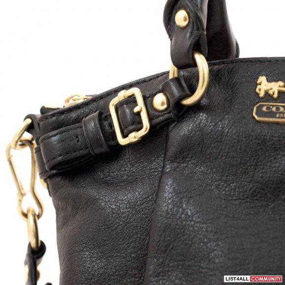 Authentic Coach Madison Leather Black Mini Sophia