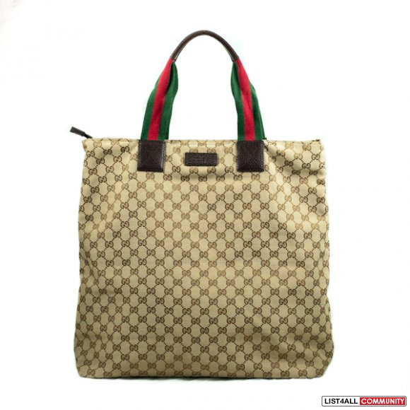f19c9eae5fb Authentic Gucci Original GG Canvas Tote    qualityclothes    List4All
