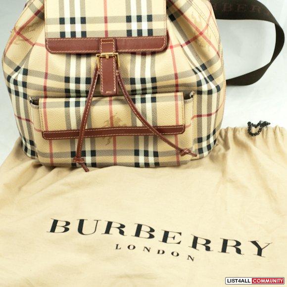 0699d59c7c68 Authentic Burberry Haymarket Check Backpack Authentic Burberry Haymarket  Check Backpack ...