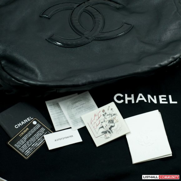 Authentic CHANEL Large Leather Tote Bag