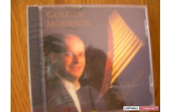 * NEW (Unopened) *CD   Golden Moments - Roberto (flute music) $3