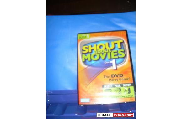 * NEW * DVD : Shout About Movies Disc 1 – The DVD Party Game  $10