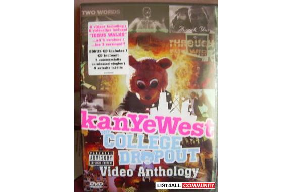 NEW *DVD : Kanye West – The College Dropout Video Anthology   $10