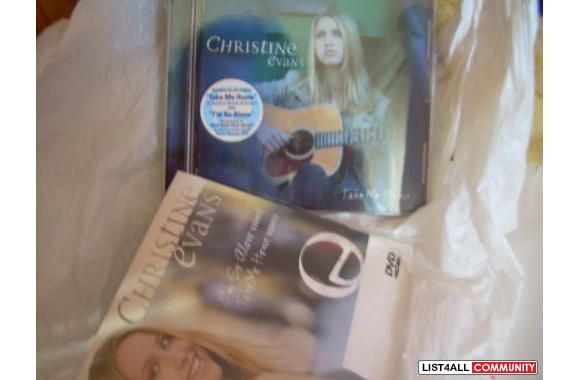 * NEW Christine's Evans -Take Me Home 1)CD 2)DVD  & 3)Stickers --- $10