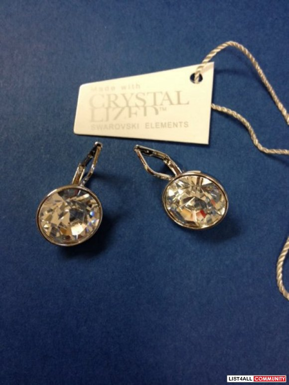 Swarovski crystal Bella earrings. New with tags.
