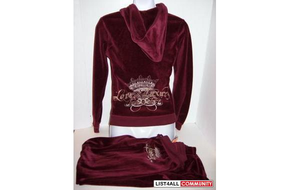 56473082d3d2 Authentic Juicy Couture Burgundy Velour tracksuit set jacket pants ...