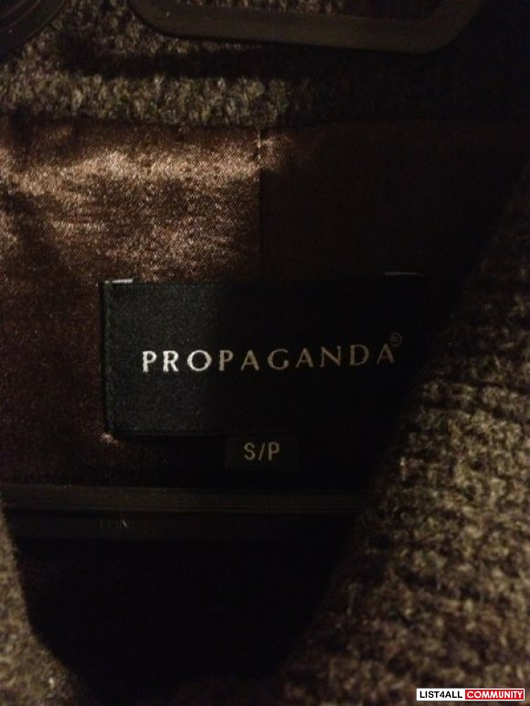 Chocolate Brown Wool Coat by Propaganda from Plenty  {Small}