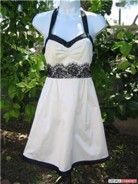 Guess Ivory and Black Dress XS