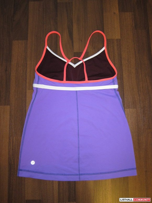 NEW Lululemon Purple Workout Tank sz 6