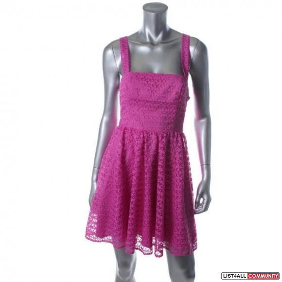 Victoria Secret Pink Lace Sleeveless Cocktail Dress 0