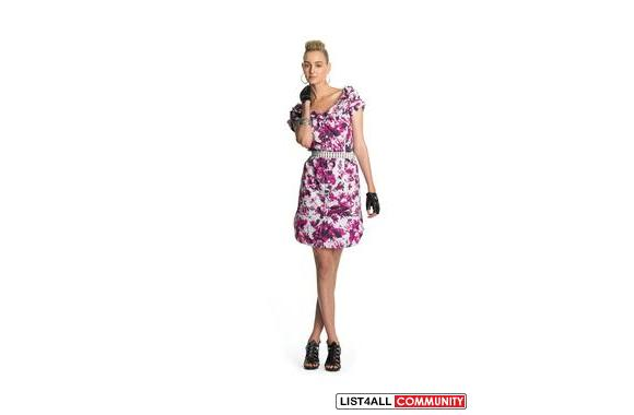 New Jean Paul Gaultier for Target Rolled Collar Floral Dress
