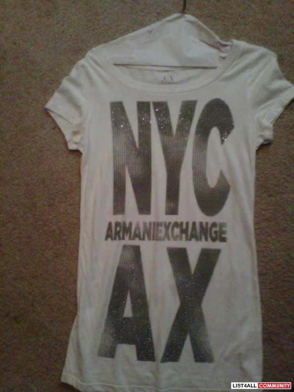 womens brand new never worn armani exchange t-shirt size small