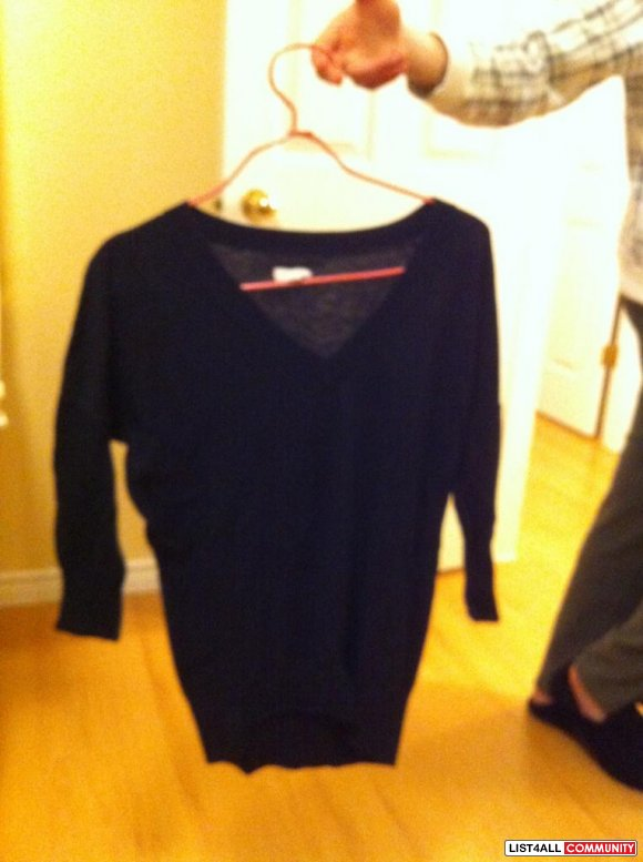 tommy hilfiger navy blue knit sweater $20