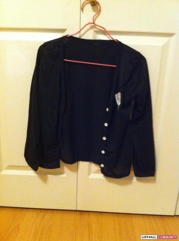 Black t-shirt material cardigan $ 10