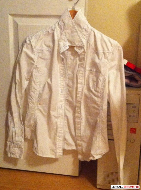 white with blue lining dressshirt (Jacob) $10
