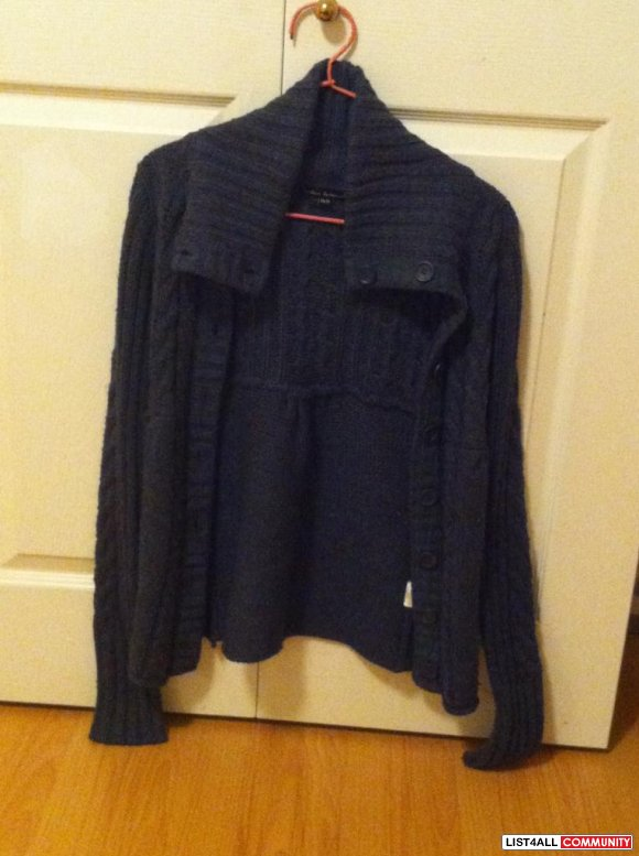 Navy Blue Sweater Jacket $ 20
