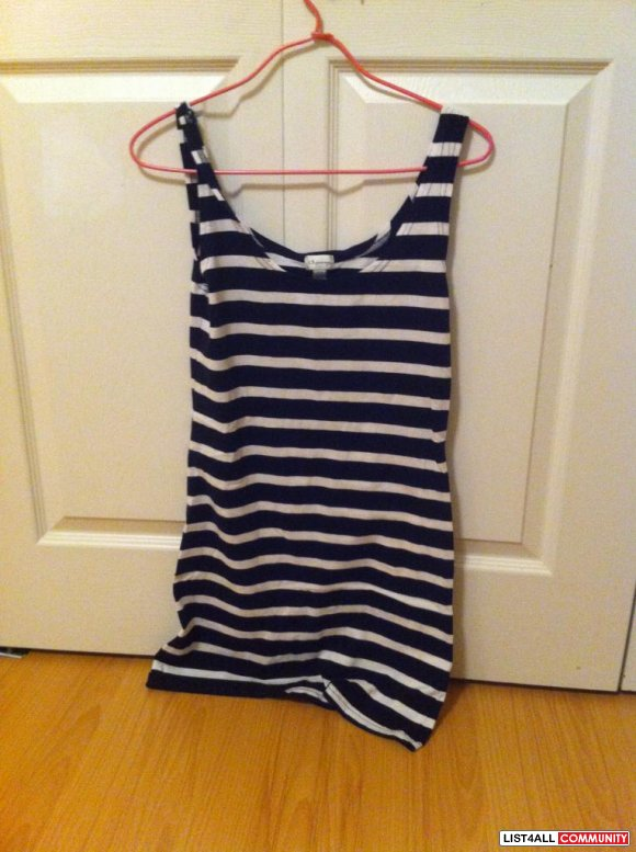 Dynamite black and white stripes summer dress $ 15