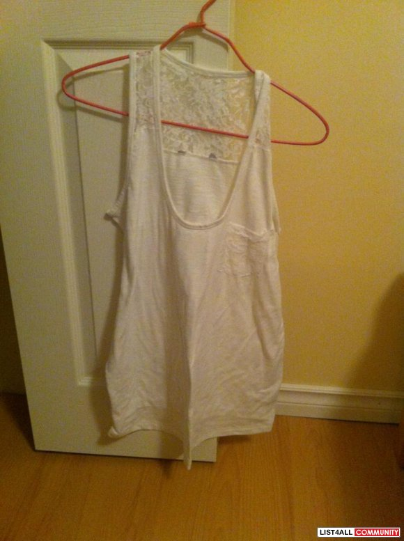 White with laces tank top $ 8