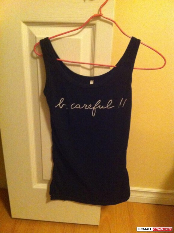 b careful tank top in black $ 10