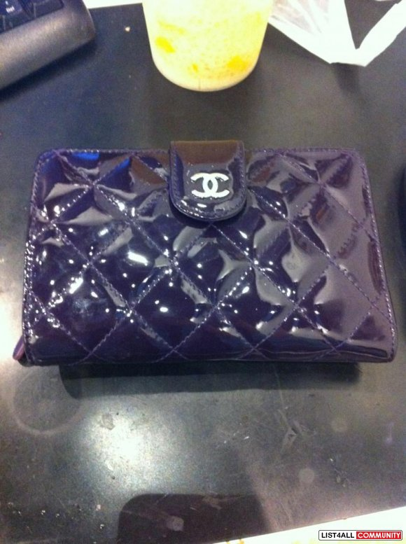 CHANEL Purple Wallet (Trades accepted)