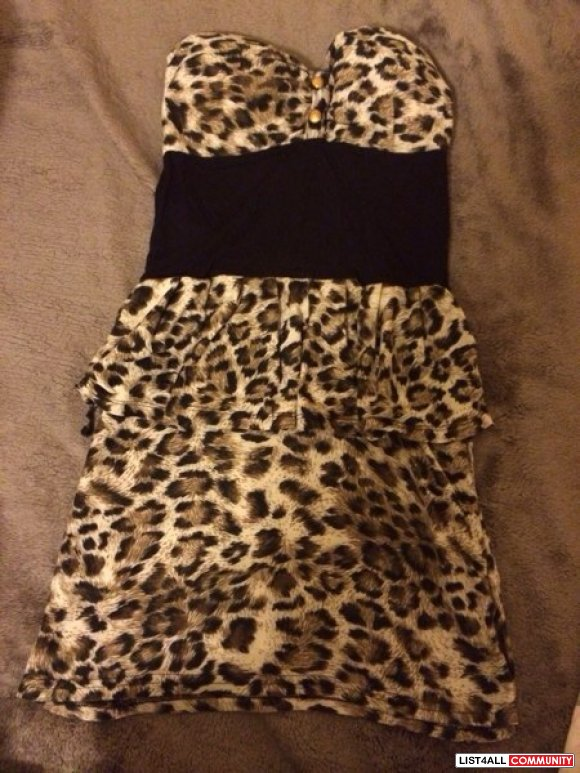 Leopard dress size S