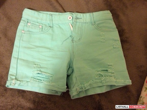 Mint green shorts size 25/26