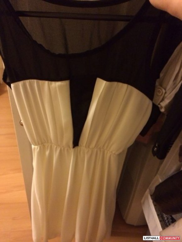 B&W dress size S brand new Jap brand chiffon
