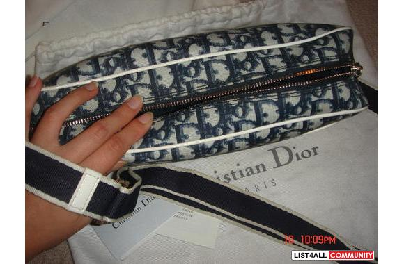 100% Authentic Christian Dior number 2 Reporter bag in blue (discontin