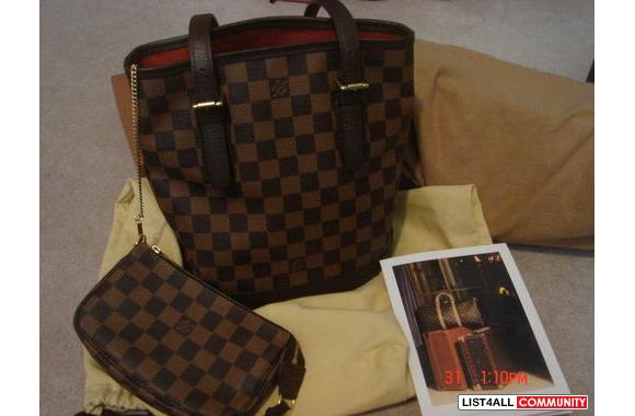 100% Authentic Louis Vuitton Damier Canvas Marais
