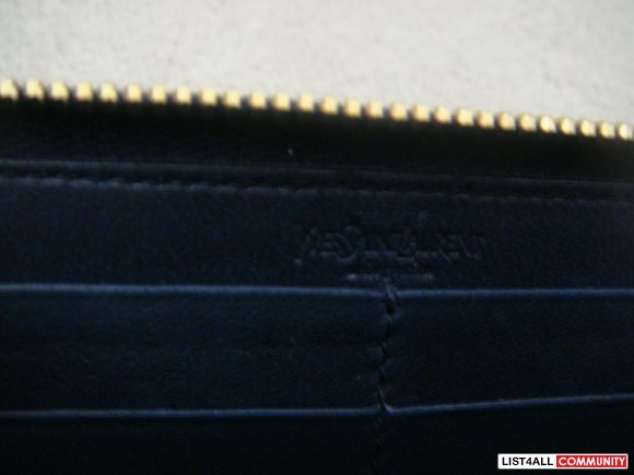 YSL zipper long wallet-patent LIMITED EDITION