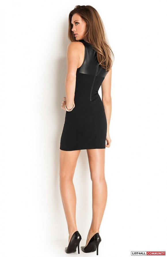BNWOT GUESS MESH YOKE DRESS