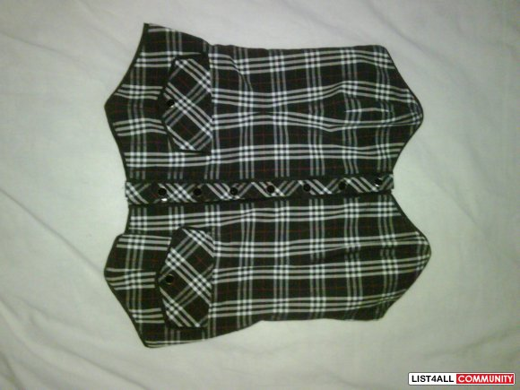 Bebe Plaid Corset Top