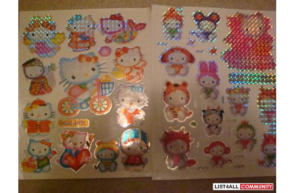 HELLO KITTY STICKER SHEETS