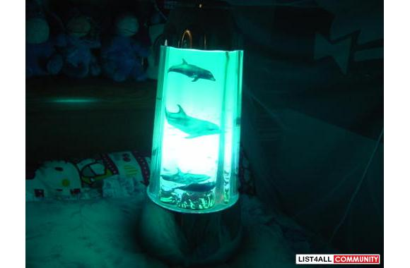 BLUE DOPHIN SPINNING LAMP