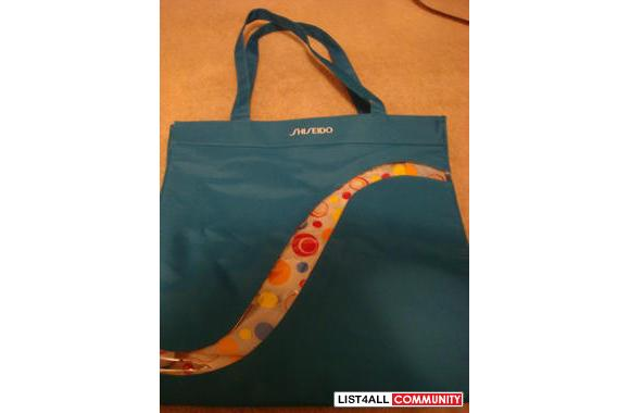 NEW LARGE SHISEIDO BLUE TOTE BAG