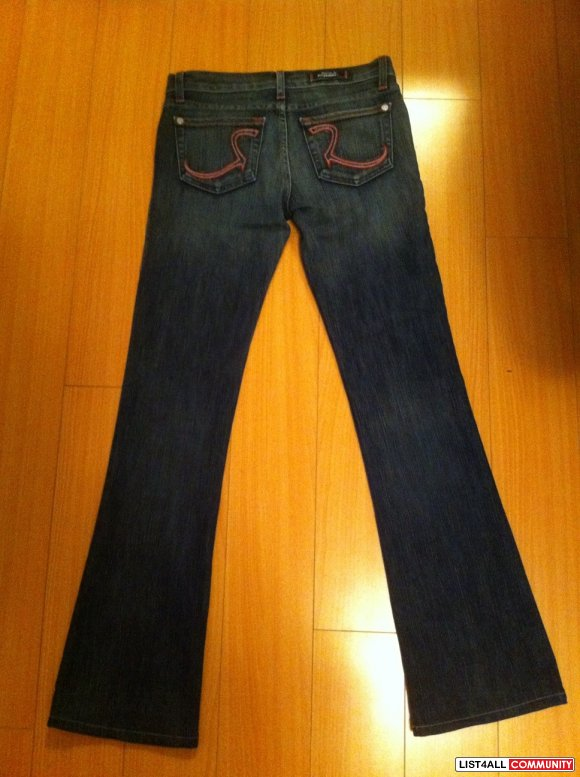 NEW ROCK & REPUBLIC KIEDIS JEANS PINK SZ 25
