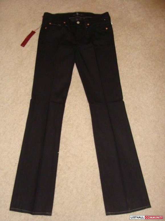 7 FOR ALL MANKIND BLACK JEANS 25