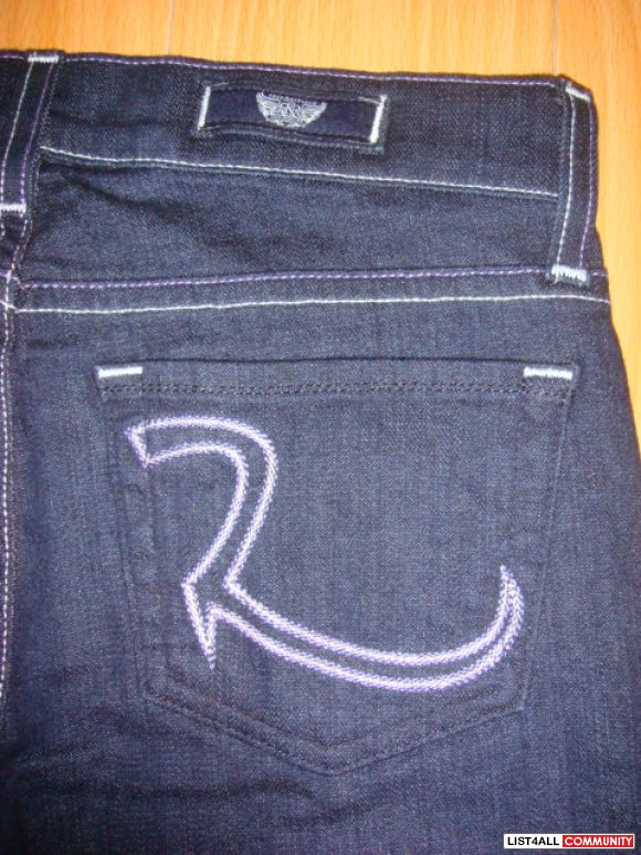 NWT ROCK & REPUBLIC KASANDRA JEANS SZ 25 LAVENDER PURPLE/WHITE