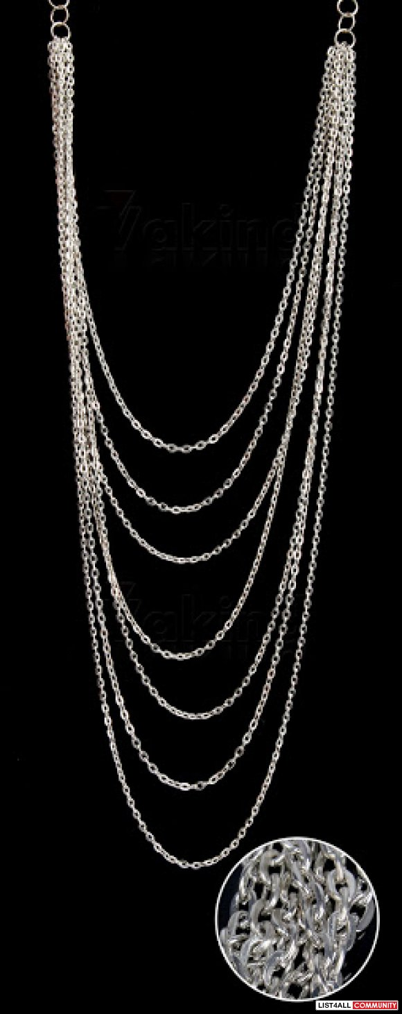 LAYERED CHAIN NECKLACE, NEW
