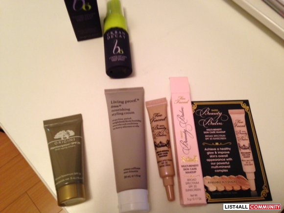 MAKEUP ITEMS: TOO FACE, ORIGINS, URBAN DECAY, LIVING PROOF