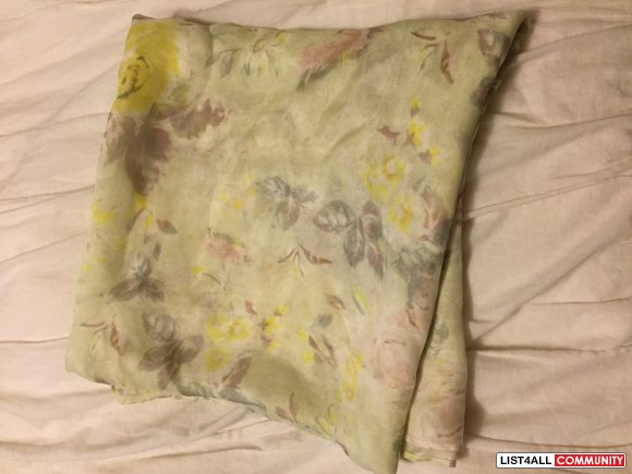Aritzia Wilfred Floral Large Silk Scarf