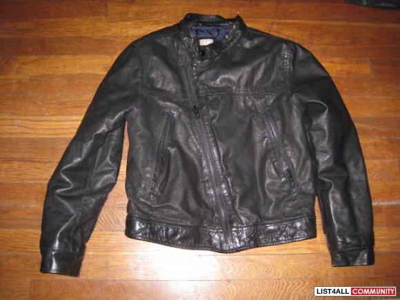 Boys H&m Black Leather Jacket
