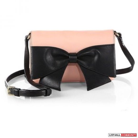Kate Spade Aster Hanover Street Pink Leather Cross Body Bow Beau