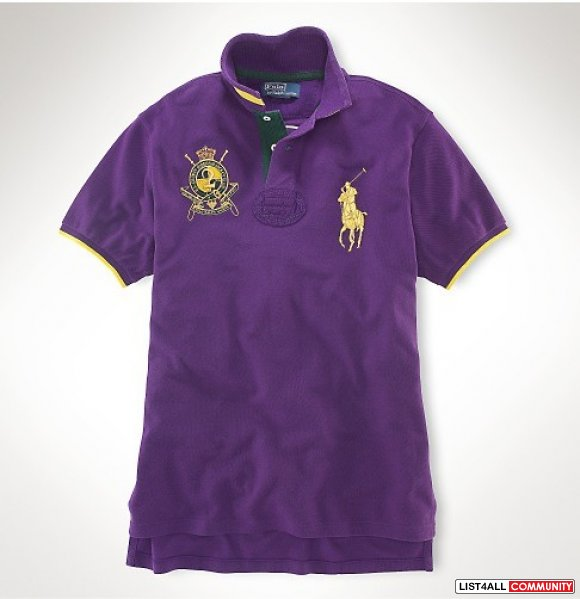 Ralph lauren men golden big pony polo t shirts wholesale Wholesale polo t shirts