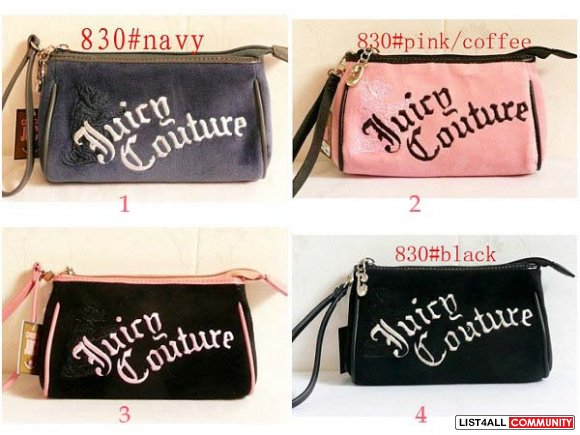 ... Juicy Couture embroidered womens Cosmetic bags c45a4f6e953d