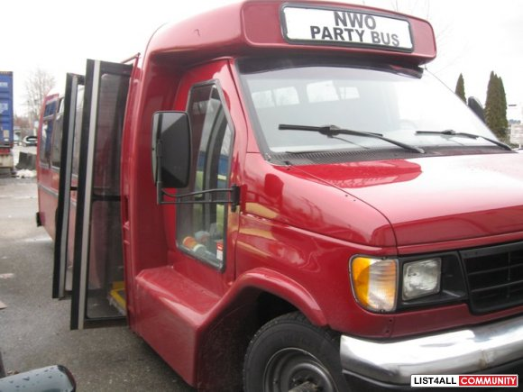 Ford E-350---ELF Party Shuttle bus, 7.3 diesel