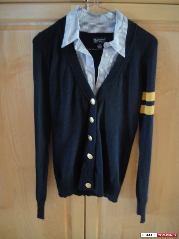 BN Bluenotes Cardigan + Built-in Shirt Size Small