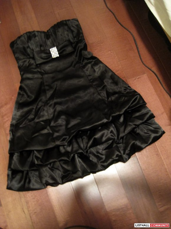 Le Chatel Black Princess Prom Dress ♥ (BRAND NEW CONDITION)