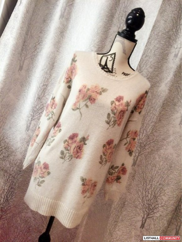 Liz lisa beige rose long sweater